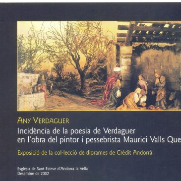 Incidence of Verdaguer's poetry in the work of the painter and Nativity scenes Mauritius Valleys Quer.Col·Collection Dioramas