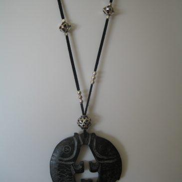 244 Black jade pendant