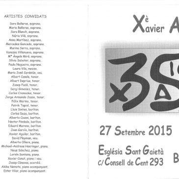 Xé Aniversari de baríton de Xavier Aguilar