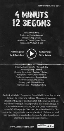 4 Minuts 12 segons - Versus Teatre - Barcelona - Àngels Canut (1)