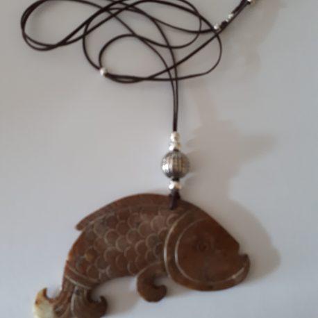 409-518 Penjoll - collar de jade i argent