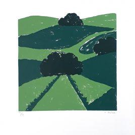 Concha Ibáñez - Paisaje en verdes - Àngels Canut