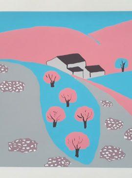 Concha Ibañez - landscape blue and pink - Àngels Canut