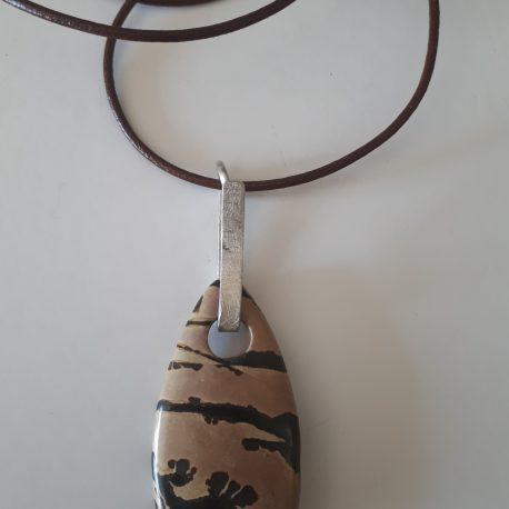 Collar – penjoll jaspi Picasso i argent Angels Canut Barcelona (2)